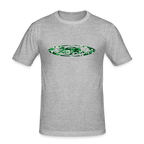 2wear original logo cammo green - Herre Slim Fit T-Shirt