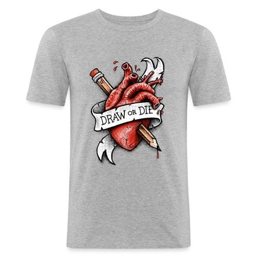 Draw or Die - Men's Slim Fit T-Shirt