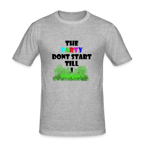 Vegan Party Fun Quote - Slim Fit T-shirt herr
