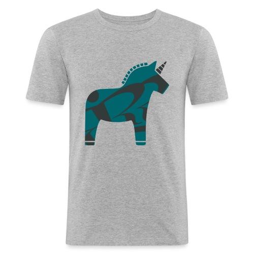 Swedish Unicorn - Männer Slim Fit T-Shirt