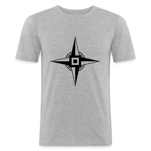 Erdenstern, Symbol, Vierzackiger Stern, Windrose - Männer Slim Fit T-Shirt