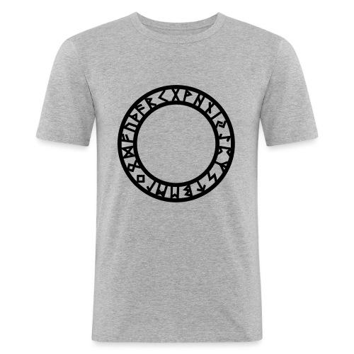 Runen Kreis, Magie Symbol, Futhark, Germanisch - Männer Slim Fit T-Shirt