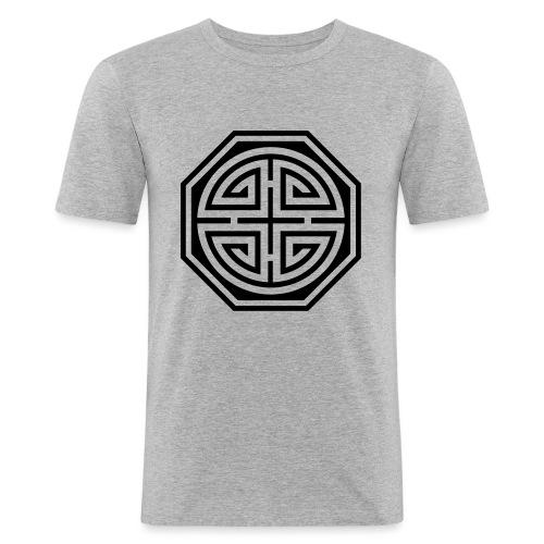 Chinesisches Glücks Symbol, Four Blessings, Segen - Männer Slim Fit T-Shirt