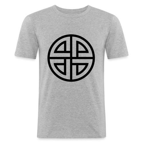 Thor Schildknoten, 4 Element, viking, celtic knot - Männer Slim Fit T-Shirt