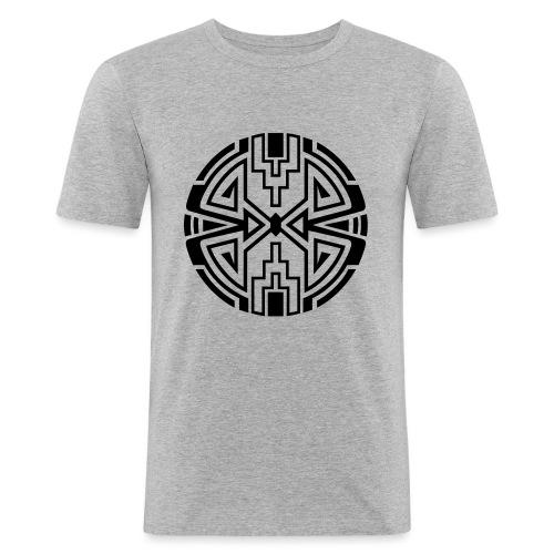 Indianer Kreis Symbol Pfeil Diamant Konzentration - Männer Slim Fit T-Shirt
