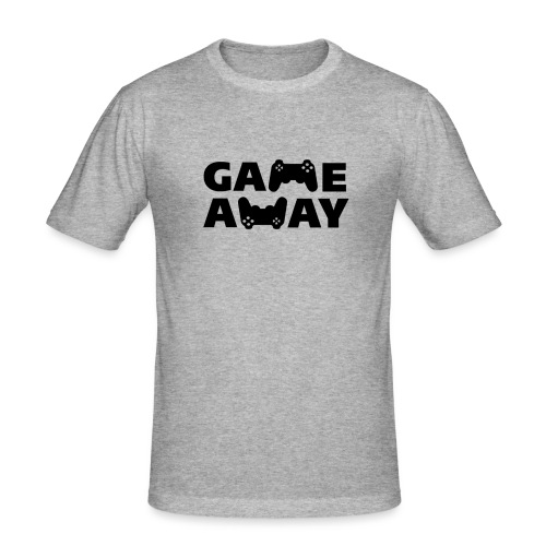 game away - Mannen slim fit T-shirt