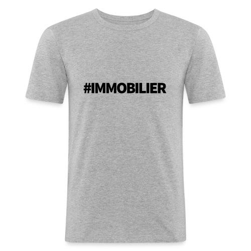 IMMOBILIER - T-shirt près du corps Homme