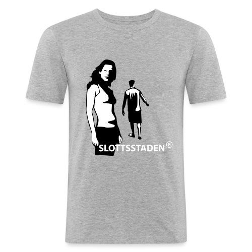 slottsstaden - Slim Fit T-shirt herr
