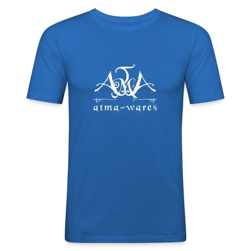 atma wares logo white - slim fit T-shirt