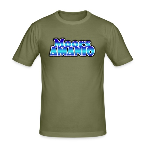 MoorsAmanioLogo - Mannen slim fit T-shirt