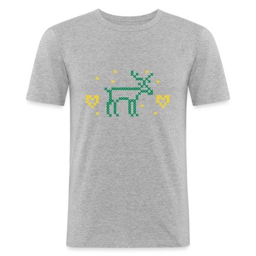 REN OCH HJÄRTAN, korsstygn - Slim Fit T-shirt herr