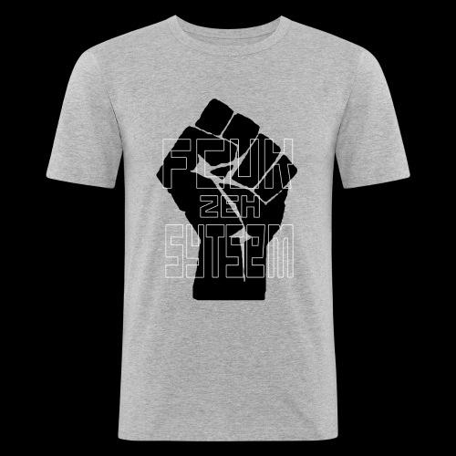 fcuk zeh sytsem - Mannen slim fit T-shirt