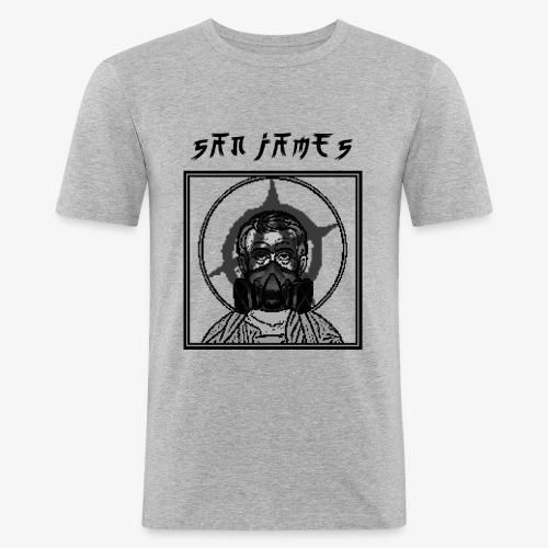 San James Logo+Txt no font - T-shirt près du corps Homme