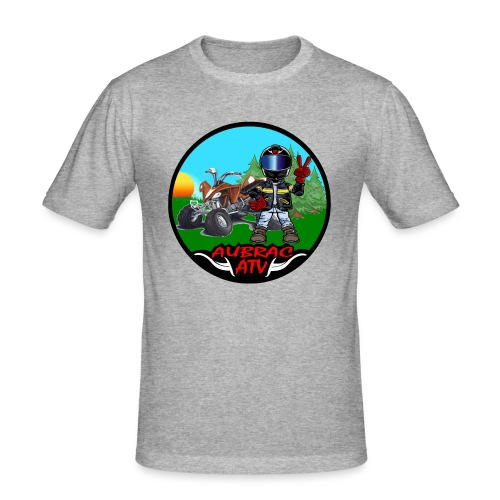 Logo aubrac atv 2 - T-shirt près du corps Homme