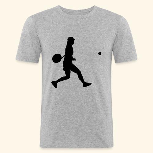 tennis woman 2 - T-shirt près du corps Homme