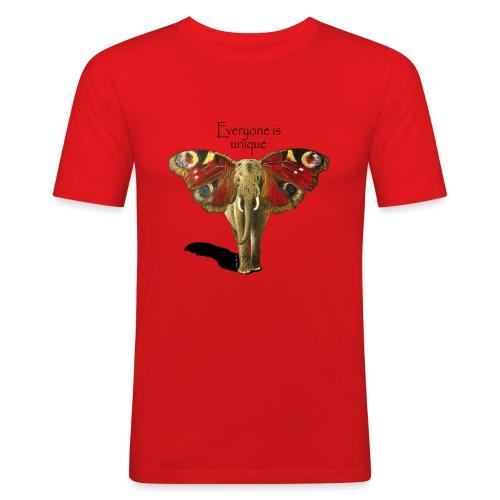 Everyone is unique – Schmettefant - Männer Slim Fit T-Shirt