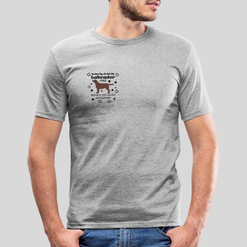 Gott schuf Labrador - Männer Slim Fit T-Shirt