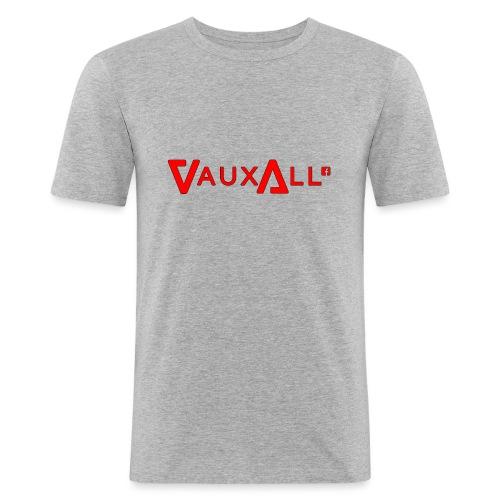 VauxAll Logo | Red | Original - Men's Slim Fit T-Shirt