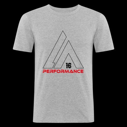 LA Performamce black/red - Männer Slim Fit T-Shirt