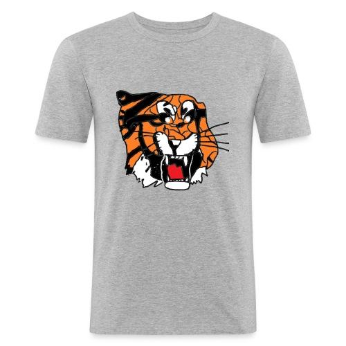 Tigerplaylogo - Männer Slim Fit T-Shirt