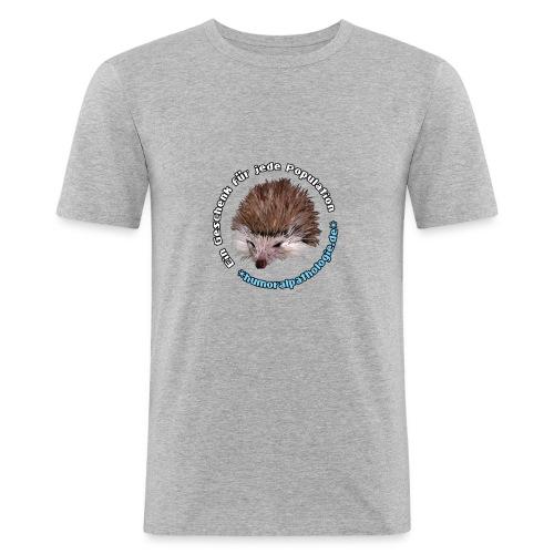 Igel blau Kontur - Männer Slim Fit T-Shirt