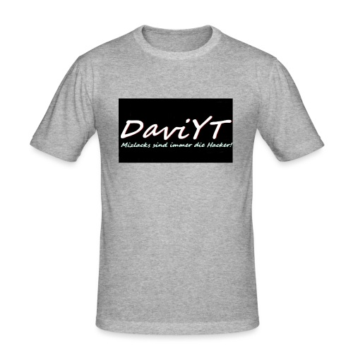 DaviYT Merch - Männer Slim Fit T-Shirt