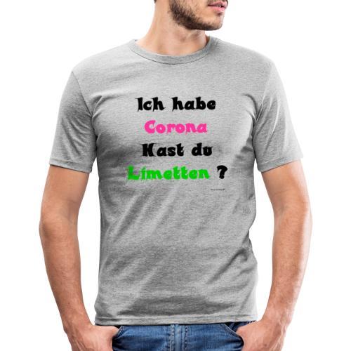 Corona Limetten - Männer Slim Fit T-Shirt