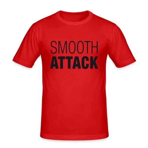 SmoothAttack pos png - Männer Slim Fit T-Shirt
