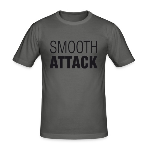 SmoothAttack pos png - Männer Slim Fit T-Shirt