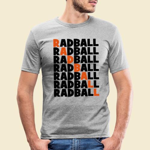 Radball   Diagonal - Männer Slim Fit T-Shirt