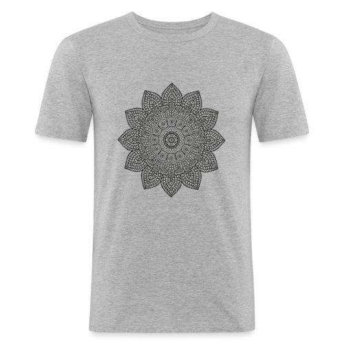 Mandala geometria sacra geometric - Maglietta aderente da uomo