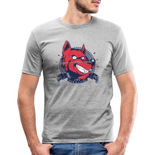 Wolf grin - Männer Slim Fit T-Shirt