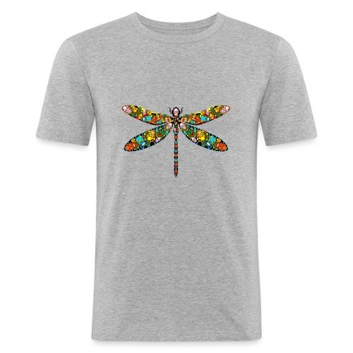 DRAGONFLY SKULL - Männer Slim Fit T-Shirt
