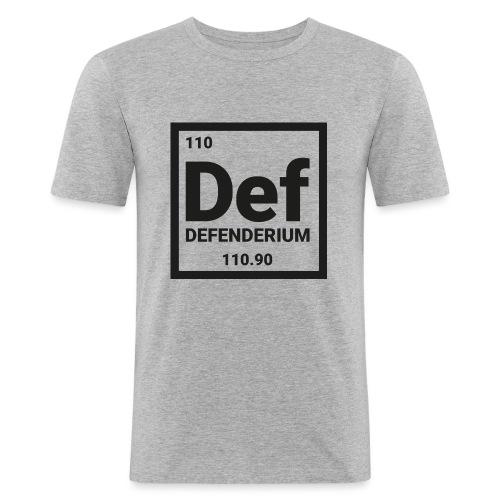 DEFENDERIUM BLACK - Mannen slim fit T-shirt