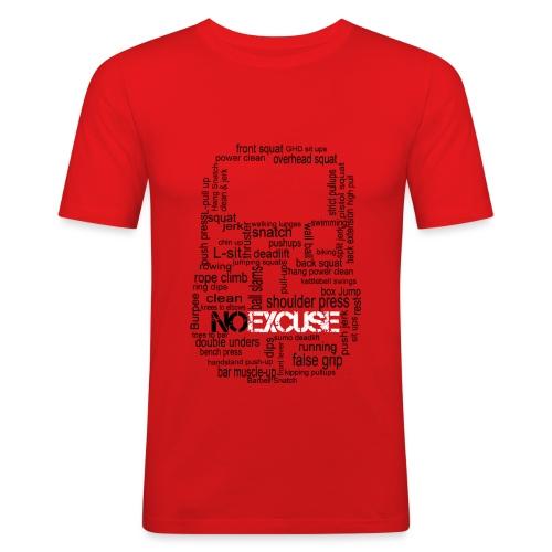 KB exercices version rouge png - T-shirt près du corps Homme