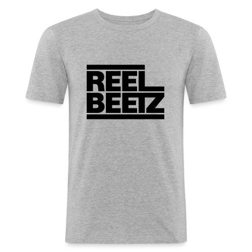 REEL BEETZ schwarz - Männer Slim Fit T-Shirt