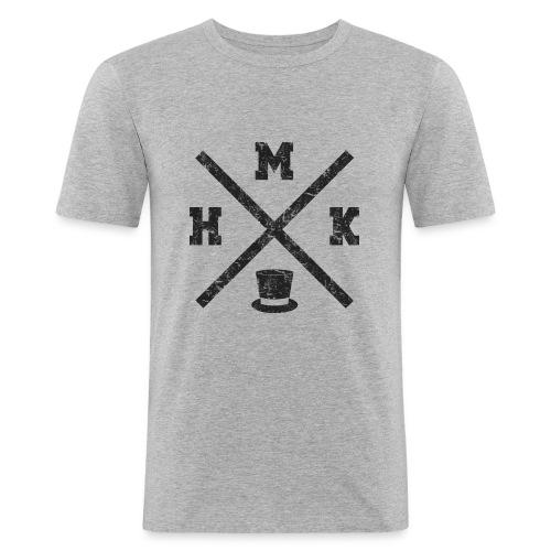 hmk musta - Miesten tyköistuva t-paita
