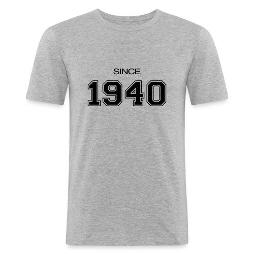 syntymäpäivä lahja 1940 - Miesten tyköistuva t-paita