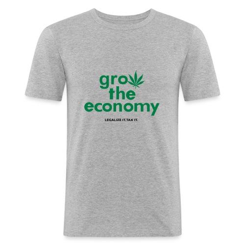 Grow The Economy Legalize It Tax It - Men's Slim Fit T-Shirt