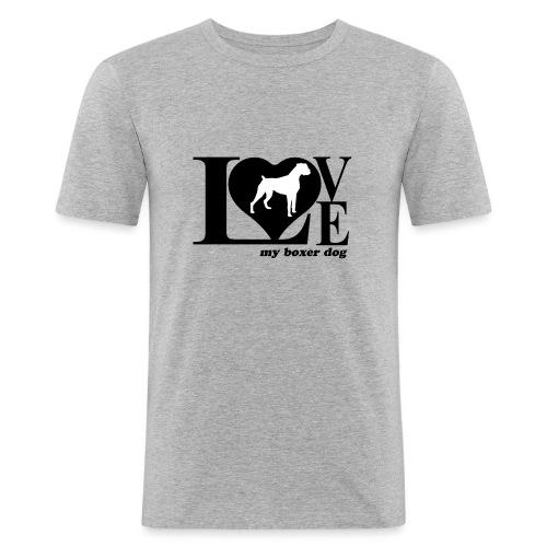 Amor de bóxer - Camiseta ajustada hombre