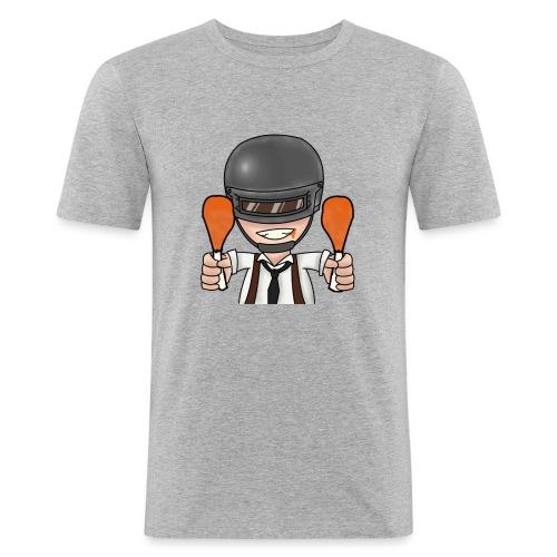 CHICKEN DINNER - Men's Slim Fit T-Shirt