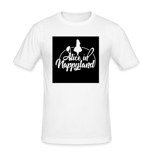 Alice in Nappyland TypographyWhite 1080 - Men's Slim Fit T-Shirt