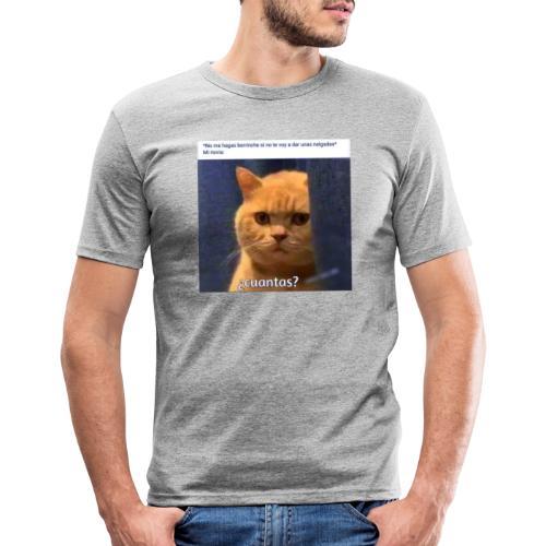 Cat nalgadas - Camiseta ajustada hombre