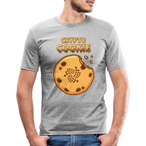 Crypto Cookie - IOTA - BTC, Bitcoin - Keks - Männer Slim Fit T-Shirt