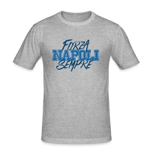 Forza Napoli Sempre - Maglietta aderente da uomo