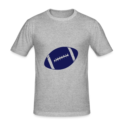 american footbal - Mannen slim fit T-shirt