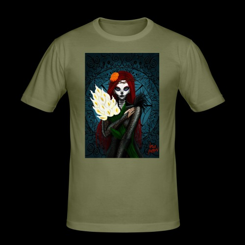 Death and lillies - Men's Slim Fit T-Shirt