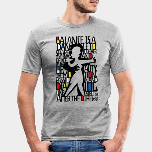 danseurs de musique de danse - T-shirt près du corps Homme