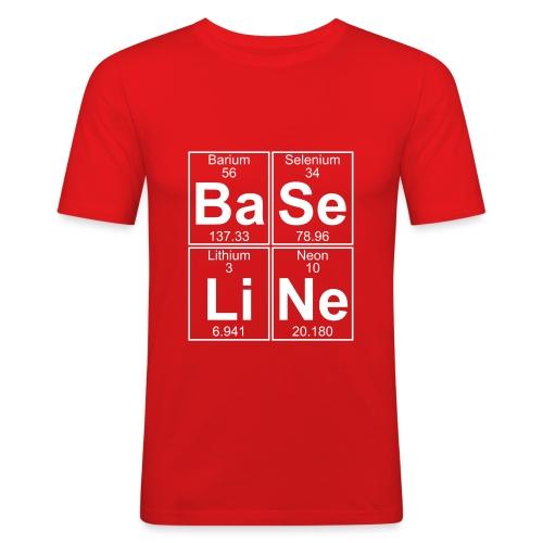 Ba-Se-Li-Ne (baseline) - Full - Men's Slim Fit T-Shirt
