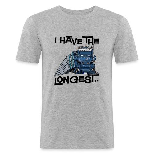 0780 S Truck I have the longest loads (FRONT+BACK) - slim fit T-shirt